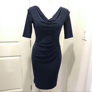 💙 Lauren Ralph Lauren Navy Blue Fitted Dress - 2